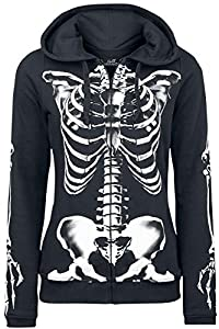 Full Volume by EMP Skeleton Sweatjacket Girl-Kapuzenjacke schwarz S