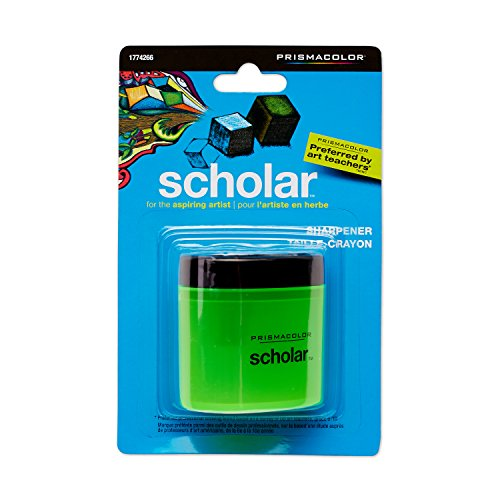 Prismacolor Scholar Pencil Sharpener and Latex-Free Eraser Bundle, 2 Count