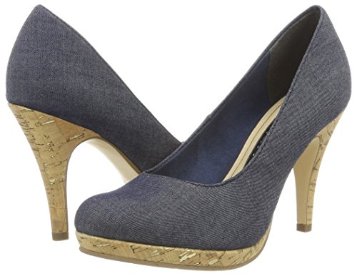toe Blue Closed 807 Pumps 22407 Tamaris navy Jeans Women''s SwtfqxOZ