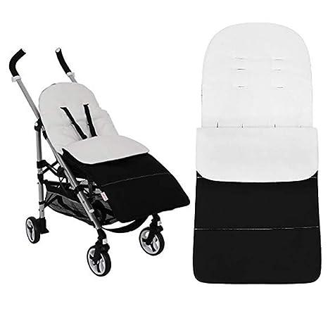 Anntry Footmuff, bolsa de dormir para bebé, universal, para niños pequeños con cochecito, cochecito anexo. Estera para pies. (Blanco)