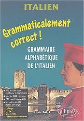 Italien : Grammaire alphabétique de l'italien
