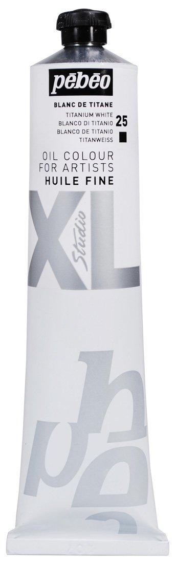 Pébéo - Fine Oil XL 200 ML - White Oil Painting - Titanium White Oil - Pébéo Oil Painting - Titanium White 200 ml