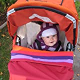 Multi-Functional Baby Stroller Blanket, Wind-and Water-resistant, Made in CANADA (Jellybean)