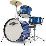 Junior 3 Piece Drum Kit by Gear4music Blue