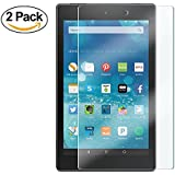 [2 pack] TDA Fire HD 8 Glass Screen Protector (2016 released, 6th Gen & 2015 5th Gen), Premium HD Tempered Glass Film for Amazon Fire HD 8 Tablet [Crystal Clear] [9H Hardness] [Bubble Free]