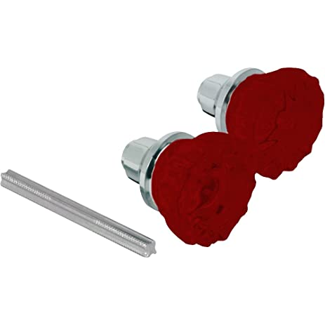 red elegantly colored antique glass door knob additional vibrant colors available by tabletop king