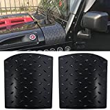 #3: URBEST Black Cowl Body Armor Outer Cowling Cover for Jeep Wrangler JK JKU Unlimited Rubicon Sahara X Off Road Sport Exterior Accessories Parts 2007~2017 (Upgrade Version)
