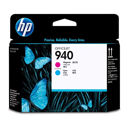 HP 940 Cyan & Magenta Printhead (C4901A) Black Printhead Cleaning Cartridge