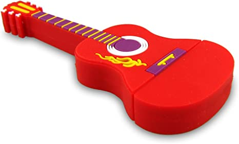 NR9600070002 Hi-SPEED MEMORIA USB PENDRIVE 2GB FLASH FIGURA GUITARRA DE CAMPO ESTILO ROJO DIVERTIDA: Amazon.es: Electrónica