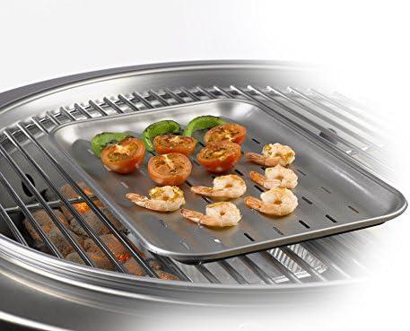 Plat de cuisson pour barbecue Dancook - (produit n°120 154), acier inoxydable.