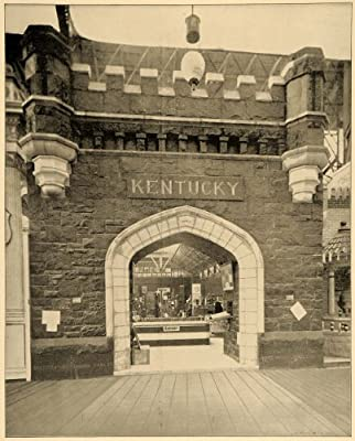 1893 Chicago World's Fair Coal Portal Kentucky Print - Original Halftone Print