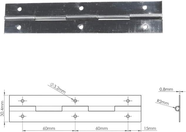 KOTARBAU Stangenscharnier Klavierband 500 mm Gold Teilbar Scharnier Kürzbar