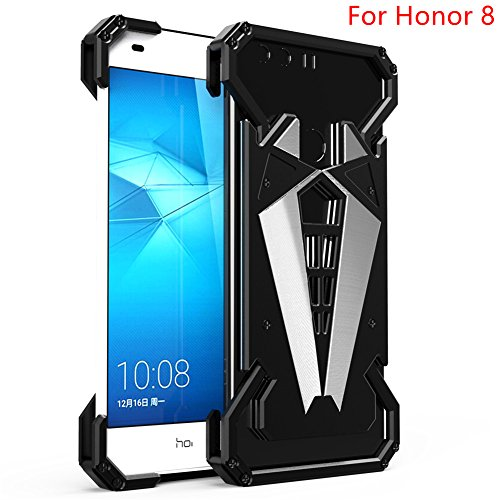 For Huawei Honor 8,DAYJOY Cool Modular Design Spider Style Premium Aluminum Metal Bumper Frame Shockproof Case Cover Shell with Replaceable Ring Bracket backplane For Huawei Honor 8