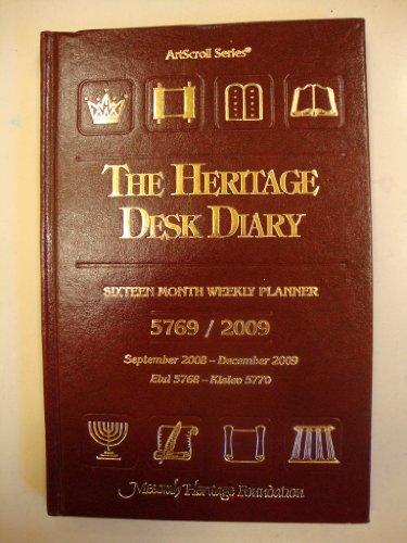 The Heritage Desk Diary: Sixteen Month Weekly Planner, September 2008-December 2009 (ArtScroll Series, September 2007-December 2008) (2007 Planner 2008 Calendar)