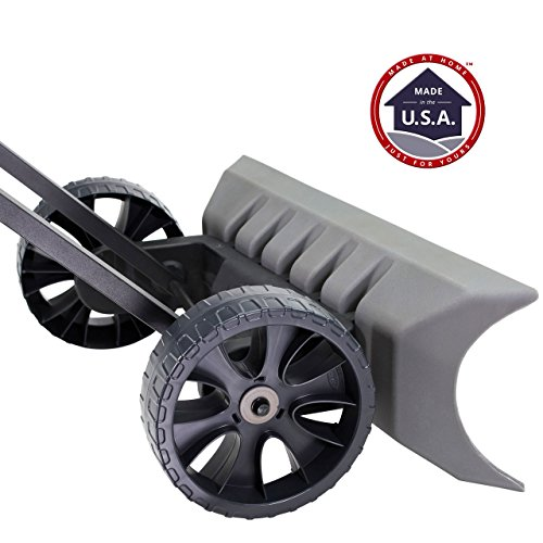 Power Dynamics Easy Leverage 30 Inch SnoDozer Rolling Snow Shovel on Wheels - Made in USA, Ergonomic Snow Clearing Push Plow for Driveways and Sidewalks by Vertex (Image #3)