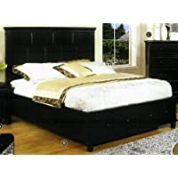 Willow Creek Black Cottage California King Storage Bed