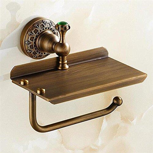 oilet Paper Towels Holder Bath Tissue Shelf Storage Organizer Home Bathroom Storage Towel Bar Rack Holder ()