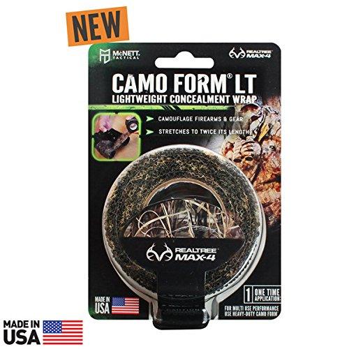 Camo Wraps Standard - McNett Tactical Camo Form LT Lightweight Self-Cling Camouflage Wrap, Realtree Max 4