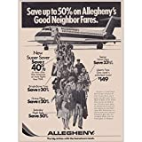 RelicPaper 1977 Allegheny Airlines: Good Neighbor Fares, Allegheny Airlines Print Ad