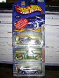 Hot Wheels 3 Cars Plus Poster Anime Seared Tuner, Radical Wrestlers Chevy 1969, and Anime Olds Auror GTS