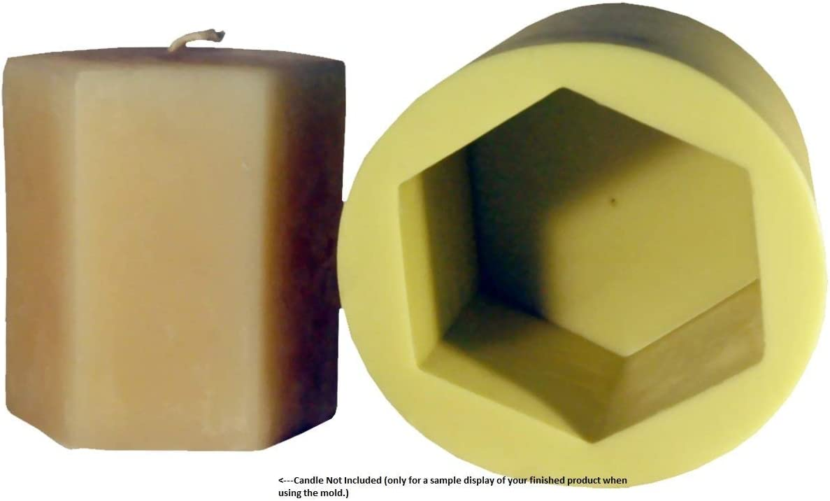 3-1//2-Inch Mann Lake Hexagon Candle Mold