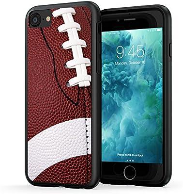 ca8dddadb36ec True Color Case Compatible with iPhone 7 Case, iPhone 8 Football Case, True  Color Football Sports Collection Slim Hybrid Hard Back + Soft TPU Bumper ...