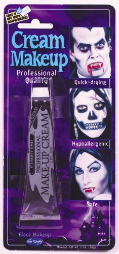 Fun World Black Cream Makeup, 1oz - Cream Makeup Halloween