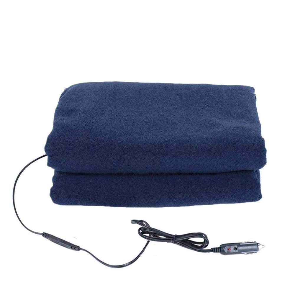Womdee Portable Heated Car Blanket 12v Car Electric Heating Blanket Temperature Adjustable Travel Throw 43x59 inch