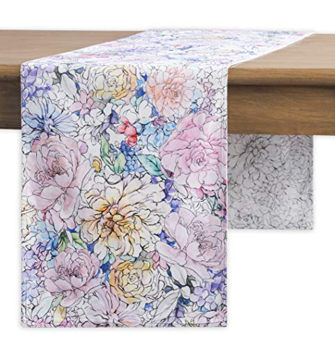Maison d' Hermine Floral Love 100% Cotton Table Runner - Double Layer 14.5 Inch by 108 Inch