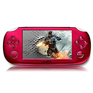 "Handheld Game Console, Loyalfire Game Player with 4.3"" 64-bit LED Lights 8GB System Portable Video Games, Supports Multiple File Formats, for Birthday Gifts for Kids Children"