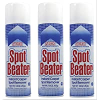 Spot Beater Instant Carpet Stain Remover 3 Spray Cans, 16 Ounce