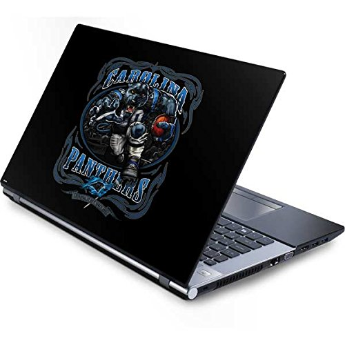 Skinit NFL Carolina Panthers Generic 17in Laptop (15.2in X 9.9in) Skin - Carolina Panthers Running Back Design - Ultra Thin, Lightweight Vinyl Decal Protection