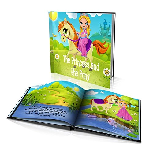 Personalized Story Book by Dinkleboo -The Princess and The Pony - For Girls Aged 0 to 8 Years Old - A Story About Your Daughter's Adventure With Her Pony - Soft Cover (8