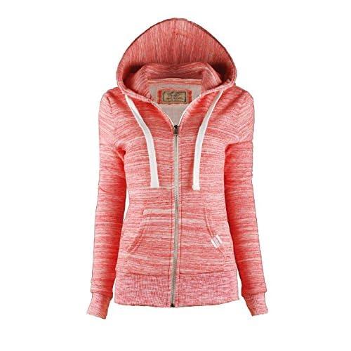 Calilogo Womens Cute Active Fleece Zip Up Hoodie Sweater Jacket 85