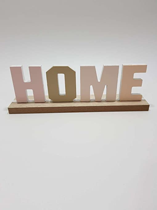 Letras decoración cartel HOME madera: Amazon.es: Hogar
