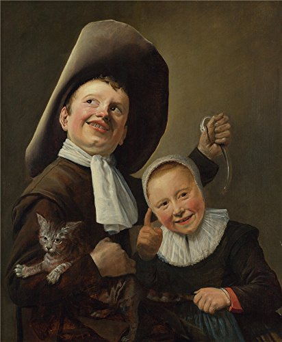 Oil Painting 'Judith Leyster A Boy And A Girl With A Cat And An Eel' 18 x 22 inch / 46 x 55 cm , on High Definition HD canvas prints is for Gifts And Home Theater, Laundry Room And Living Room decor