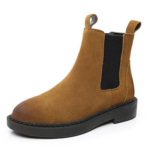 THICK albicocca nabuk thick da outdoor Colore CN40 caramello british color EU39 sexy A stile boots donna UK6 short flat dimensioni Stivali 5 A wIZXZq