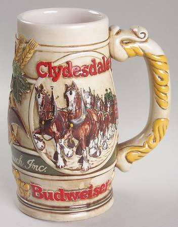 Anheuser-Busch Anheuser Busch Christmas Stein No Box, Collectible - 949661