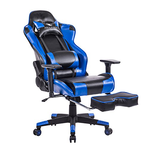 Killabee Racing Style Gaming Chair With Footrest Big And