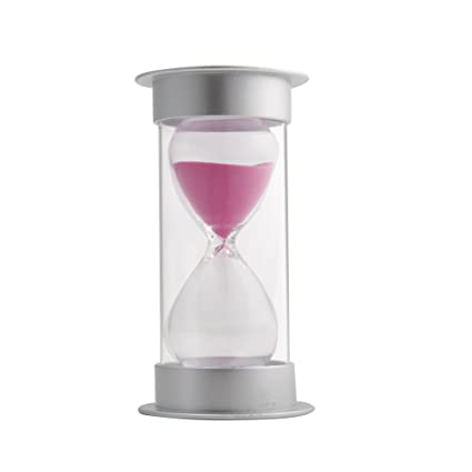 60 Minutes Hourglass,Siveit Modern Security Sand Timer With Pink Sand For  Kids, Decoration