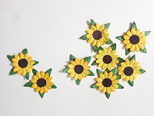 sunflowers-mulberry-paper-25mm-yellow-paper-flowers-with-brown-centre-50-pcs-great-for-scrapbooking-