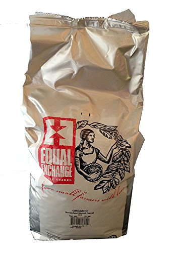 Equal Exchange USDA Organic Breakfast Blend DECAF Whole Bean Coffee- 5 Lb Bag