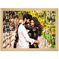 The Happy Dreams Customized Mosaic Photo Frame Photo Collage Frame for Couple| Brother-Sister, or Some One Special in Your Life