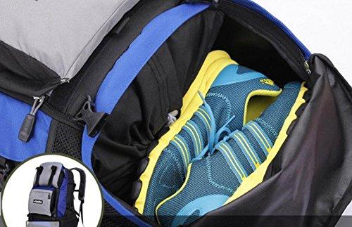 Bergsteigen Tasche Wandern Reisen Im Freien Sport Rucksack Lässig Große Kapazität Rucksack Männer Frauen Daypack 36-55L Darkblue