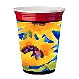 Flower - Sunflower Red Solo Cup Beverage Insulator Hugger
