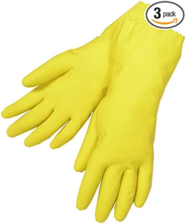 Latex Free Kitchen Cleaning Gloves Household Non-Slip Large Waterproof Dishwashing Gloves 8 12 3-Pack
