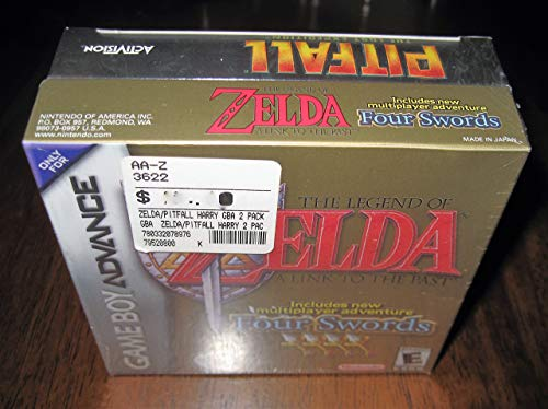 The Legend of Zelda: A Link to the Past - Four Swords & Pitfall: The Lost Expedition, Game Boy Advance Gameboy (Renewed)