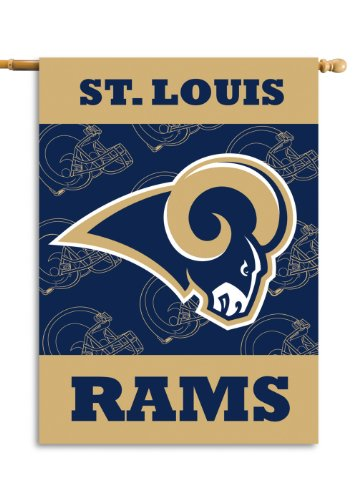 Fremont Die NFL Los Angeles Rams 2-Sided 28-by-40-Inch House Banner by Fremont Die