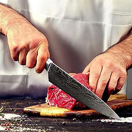 Cuchillo de cocina Cuchillo de cocinero de acero inoxidable Damasco Auspicioso Nube Dibujo CUCHILLA CUCHILLO HERRAMIENTA DE COCINA W/SCABBARD (Color : 3.5inch)