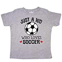 inktastic Soccer Sports Gift for Kids Toddler T-Shirt 5/6 Heather Grey
